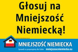 głosuj na mniejszość niemiecką
