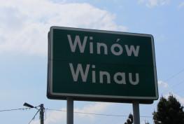 Winau_Winów_zweisprachiges_Ortsschild foto wikipedia